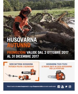 Promozione Husqvarna autunno 2017